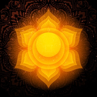 Mandala di swadhisthana chakra. chakra sacrale.