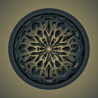 Mandala di taglio laser astratto ornamento
