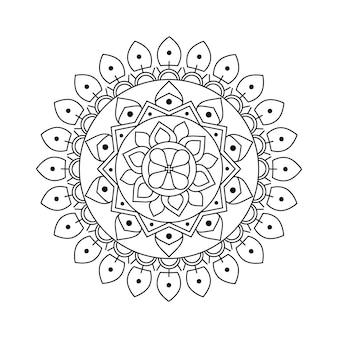 Mandala di vettore di contorno creativo