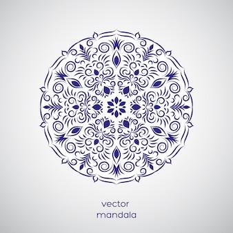 Mandala disegnata a mano ornamentale.
