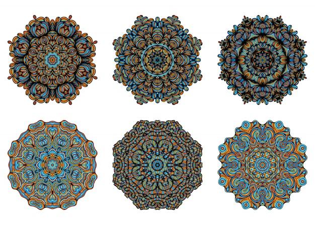 Mandala. elementi decorativi vintage con motivo orientale. modello di yoga. islam, cultura araba indiana turca e pakistana. illustrazione.