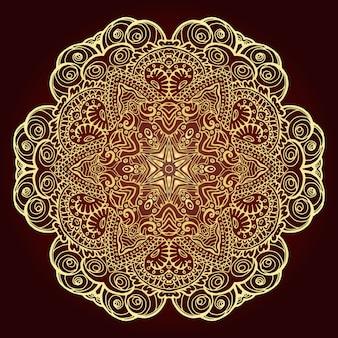 Mandala. elemento decorativo etnico.