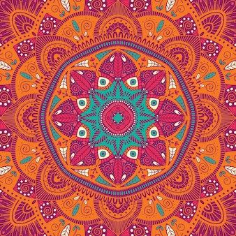 Mandala etnica floreale ornamentale variopinta