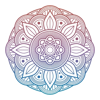 Mandala fiore colorato. elemento decorativo arabo, indiano, asiatico