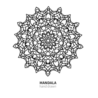 Mandala fiore disegno vettoriale