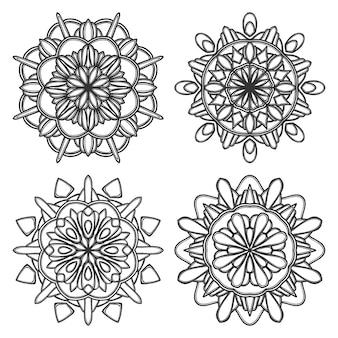 Mandala fiore illustrazione