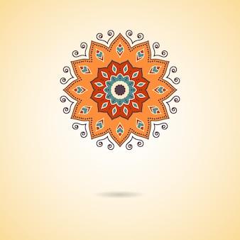 Mandala floreale colorato disegnato a mano