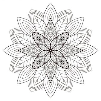 Mandala floreale ornamentale.