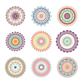 Mandala flower vector.