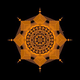 Mandala geometrica di lusso