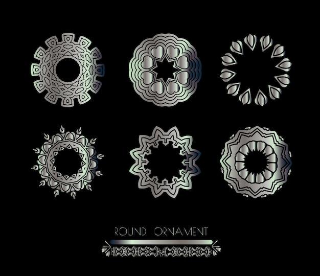 Mandala in acciaio metallizzato