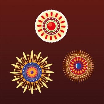 Mandala indiane colorate