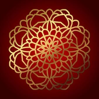 Mandala modello disegno vettoriale