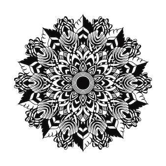Mandala nera art. vettoriale