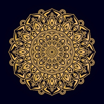 Mandala ornamentale di colore dorato