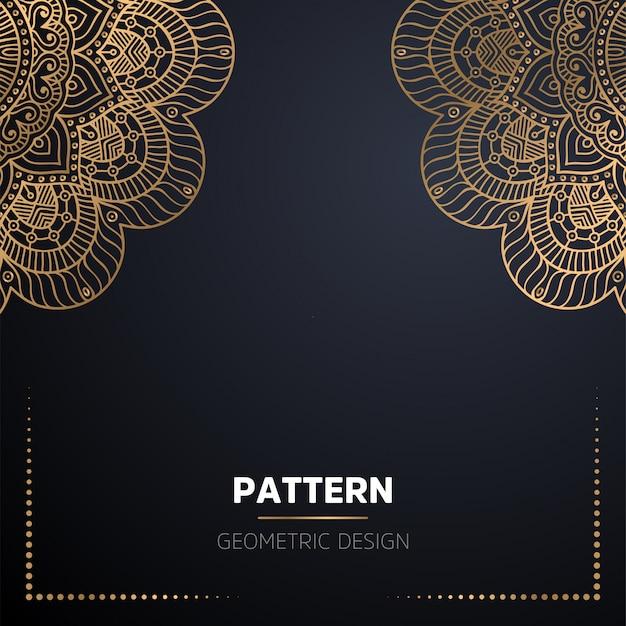 Mandala ornamentale di lusso design sfondo in colore oro