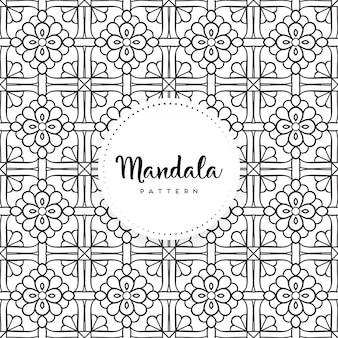 Mandala ornamentale di lusso senza cuciture