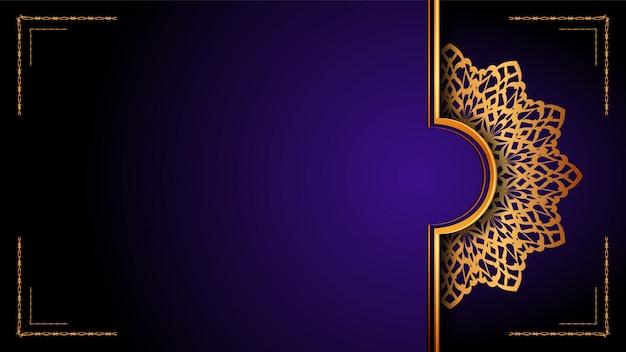 Mandala ornamentale di lusso sfondo islamico, stile arabesco.