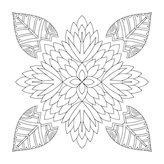 Mandala ornamentale. ornamento lineare. pagina del libro da colorare