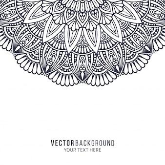 Mandala. ornamento rotondo. elementi decorativi vintage