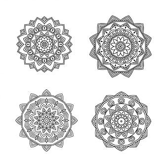 Mandala pack design. mandala premium da 4 pezzi