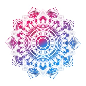 Mandala pattern arabo colorato