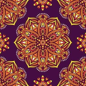 Mandala per la stampa. ornamento tribale.