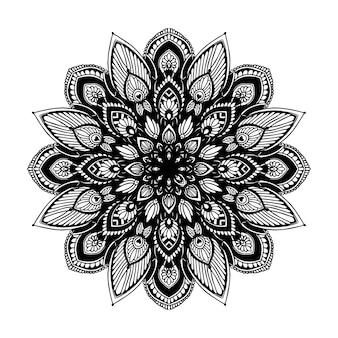 Mandala per libro da colorare. vettore orientale, schemi di terapia antistress. loghi yoga vec