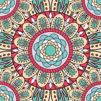 Mandala seamless pattern background
