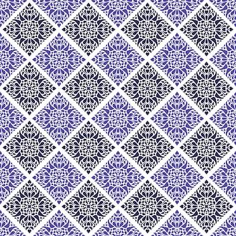 Mandala seamless pattern di sfondo. carta da parati arabesca con ornamenti floreali. elegante motivo etnico classico batik