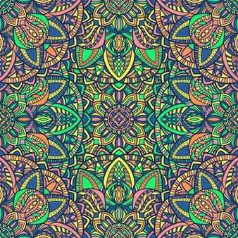 Mandala seamless pattern di sfondo. ornamento tribale.