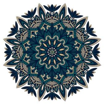 Mandala tribale per la stampa su tessuto o carta.