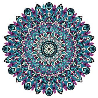 Mandala tribale vintage elemento etnico.