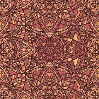 Mandala vector seamless. ornamento tribale.
