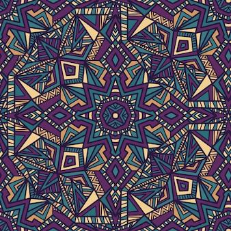 Mandala vector seamless pattern di sfondo. ornamento tribale.