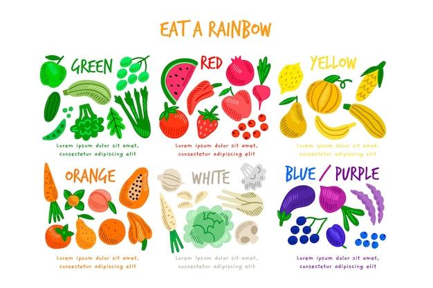 Mangia un'infografica arcobaleno