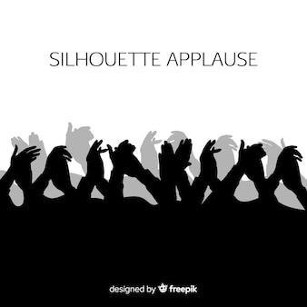Mani che applaudono silhouette
