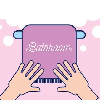 Mani con bagno pulito asciugamano