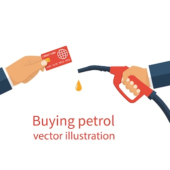 Mani in possesso di carta e distributore di gas