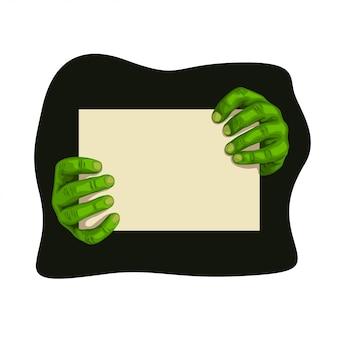 Mani zombi con tavola