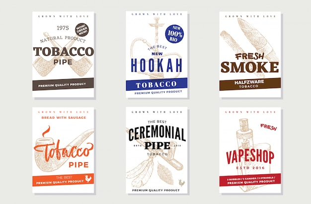 Manifesti pubblicitari del tabacco d'epoca