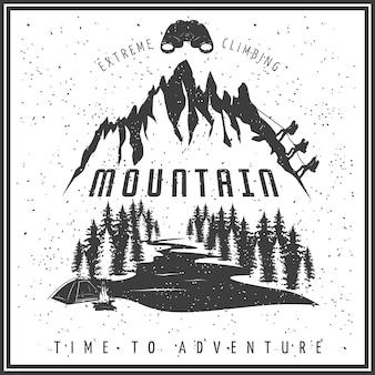 Manifesto bianco nero di arrampicata estrema