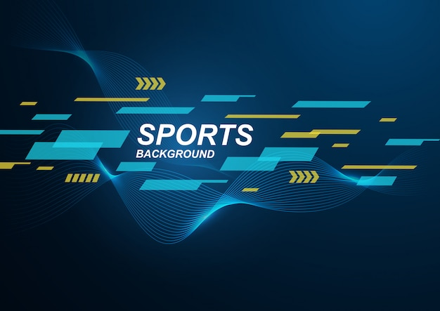 Manifesto colorato moderno astratto per gli sport.