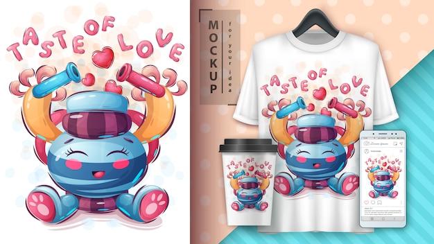 Manifesto d'amore e merchandising di chimica