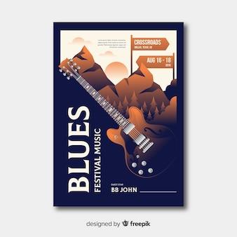 Manifesto del festival di musica dell'illustrazione di pendenza