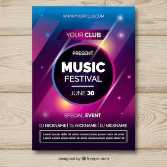 Manifesto del festival di musica in stile astratto