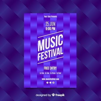 Manifesto del festival di musica modello quadrato