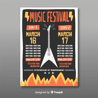 Manifesto del festival di musica per chitarra
