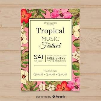Manifesto del festival di musica tropicale