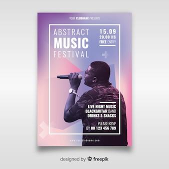 Manifesto del festival musicale con foto